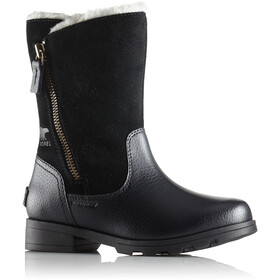 Sorel Youth Emelie Foldover Boots Black/Black